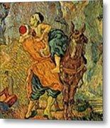 The Good Samaritan After Delacroix 1890 Metal Print by Vincent Van Gogh