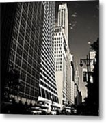 The Grace Building And The Chrysler Building - New York City Metal Print by Vivienne Gucwa