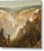The Grand Canyon Of The Yellowstone Metal Print by Thomas Hill