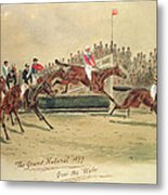 The Grand National Over The Water Metal Print by William Verner Longe