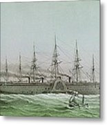 The Great Eastern Laying Electrical Cable Between Europe And America Metal Print by Louis Le Breton
