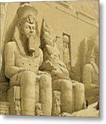 The Great Temple Of Abu Simbel Metal Print by David Roberts