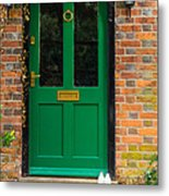The Green Door Metal Print by Mark Llewellyn