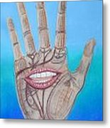 The Hand Speaketh Metal Print by R Neville Johnston