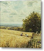 The Harvesters Metal Print by Edmund George Warren