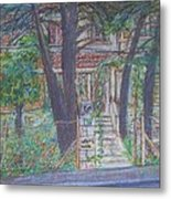 The Haunted House In Talpiot Jerusalem Metal Print by Esther Newman-Cohen