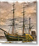 The Hms Bounty Metal Print by Debra and Dave Vanderlaan