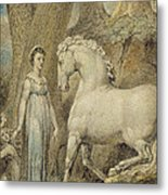 The Horse Metal Print by William Blake