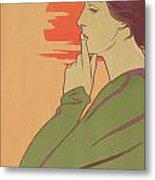 The Hour Of Silence Metal Print by Henri Georges Jean Isidore Meunier