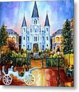 The Hours On Jackson Square Metal Print by Diane Millsap