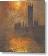 The Houses Of Parliament Sunset Metal Print by Claude Monet