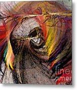 The Huntress-abstract Art Metal Print by Karin Kuhlmann
