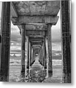 The Iconic Scripps Pier Metal Print by Larry Marshall