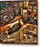 The Identification Bureau - Police Officer Metal Print by Lee Dos Santos
