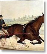 The King Of The Turf Metal Print by Currier And Ives