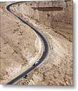 The King's Highway At Wadi Mujib Jordan Metal Print by Robert Preston
