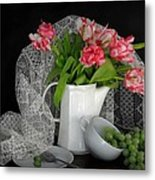 The Lace Veil  Metal Print by Diana Angstadt