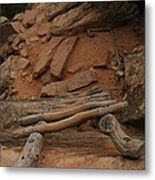 The Ladder Down Into Sapupu Canyon Metal Print by Jeff Swan