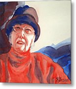 The Lady In Red Metal Print by Kathy Braud
