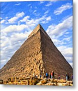 The Last Ancient Wonder - Egyptian Pyramid Metal Print by Mark E Tisdale