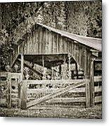 The Last Barn Metal Print by Joan Carroll