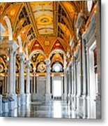The Library Metal Print by Greg Fortier