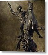 The Lion Fighter Metal Print by Tom Gari Gallery-Three-Photography