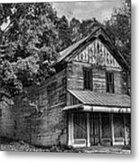 The Local Haunted House Metal Print by Heather Applegate