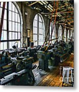 The Machine Shop Metal Print by Paul Ward