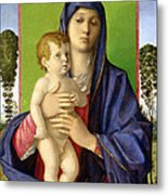 The Madonna Of The Trees Metal Print by Giovanni Bellini