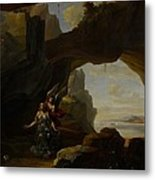 The Magdalen In A Cave Metal Print by Johannes Lingelbach