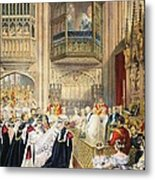 The Marriage At St Georges Chapel Metal Print by English School