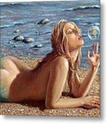 The Mermaids Friend Metal Print by John Silver