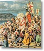The Mighty King Of Chivalry Richard The Lionheart Metal Print by Fortunino Matania