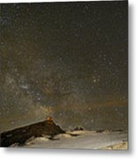 the Milky Way Sagittarius and Antares over the Sierra Nevada National Park Metal Print by Guido Montanes Castillo