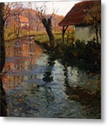 The Mill Stream Metal Print by Fritz Thaulow