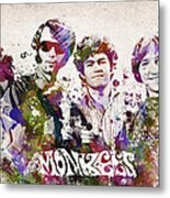 The Monkees Metal Print by Aged Pixel