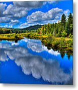 The Moose River From The Green Bridge Metal Print by David Patterson