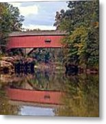 The Narrows Covered Bridge 4 Metal Print by Marty Koch