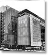 The Newseum Metal Print by Olivier Le Queinec