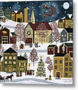 The Night Before Christmas Metal Print by Medana Gabbard