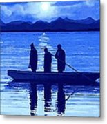 The Night Fishermen Metal Print by SophiaArt Gallery