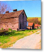 The Old Barn 5d22271 Metal Print by Wingsdomain Art and Photography