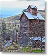 The Old Grain Storage Metal Print by Steve McKinzie