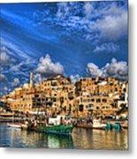 the old Jaffa port Metal Print by Ron Shoshani