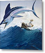 The Old Man And The Sea Metal Print by Harry G Seabright