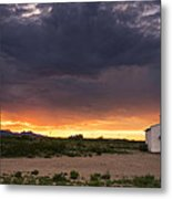 The Old Mission Chapel Metal Print by Aaron S Bedell