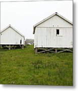 The Old Pierce Point Ranch At Foggy Point Reyes California 5d28140 Metal Print by Wingsdomain Art and Photography