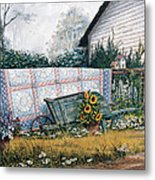 The Old Quilt Metal Print by Michael Humphries