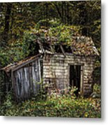The Old Shack In The Woods - Autumn At Long Pond Ironworks State Park Metal Print by Gary Heller